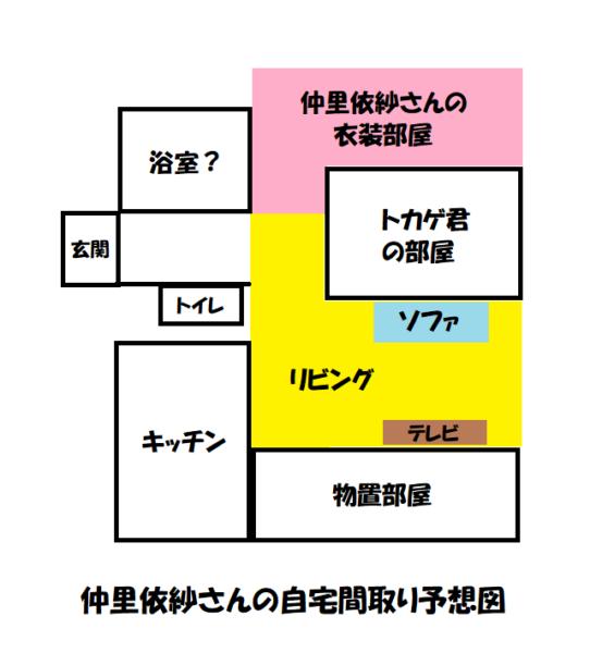 仲里依紗さんの家の間取り予想図